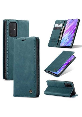 CaseMe Retro Wallet Slim voor S20 Blauw