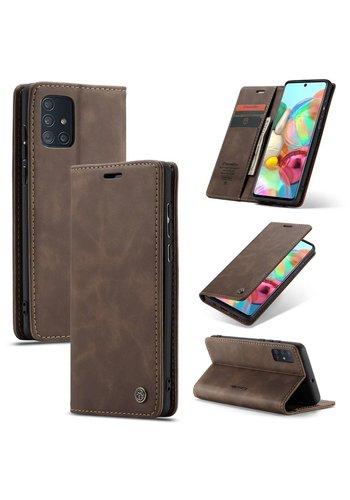 CaseMe Retro Wallet Slim für A71 Braun