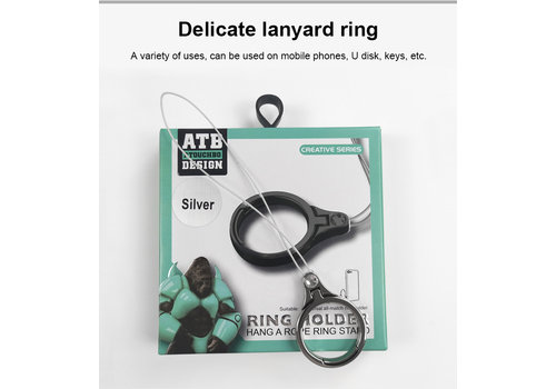 ATB Design Ring Holder Rope Black