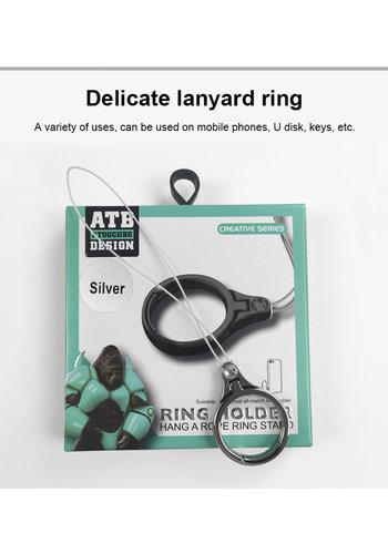 ATB Design Uchwyt na pierścionek String Różowe złoto