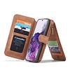 CaseMe 2 in 1 Zipper Wallet für Samsung S20 Plus Braun