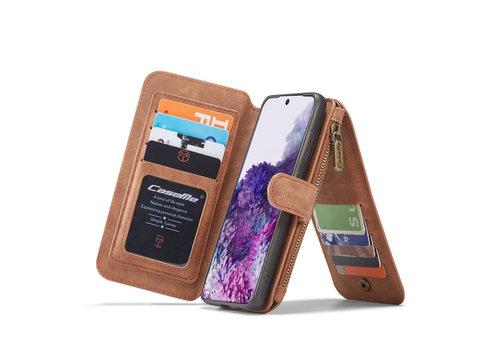 CaseMe 2 in 1 Zipper Wallet für S20 Plus Braun