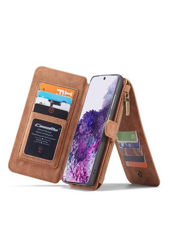 CaseMe 2 in 1 Zipper Wallet für S20 Ultra Braun