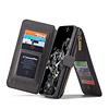CaseMe 2 in 1 Zipper Wallet für Samsung S20 Ultra Schwarz