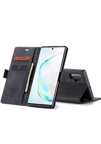 CaseMe Retro Wallet Slim voor Note 20 Ultra Zwart