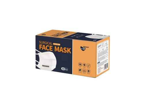 Inherent Chirurgische Masken Typ IIR mit Gurt 50St.