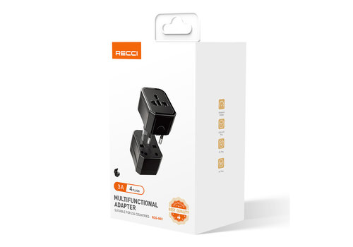 Recci Universal Travel Charger Adapter
