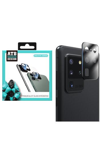 ATB Design Titanium + Tempered Glass Camera Lens Protector S20 Ultra  Zwart