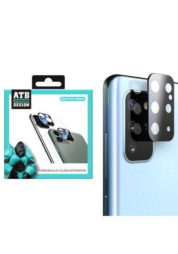 ATB Design Titanium + Tempered Glass Camera Lens Protector S20 Plus Zwart