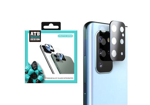 ATB Design Kameraobjektivschutz aus gehärtetem Glas aus Titan + S20 Plus Schwarz