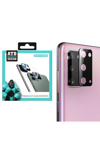 ATB Design Titanium + Tempered Glass Camera Lens Protector S20 Zwart