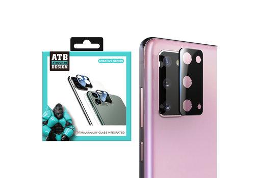 ATB Design Kameraobjektivschutz aus gehärtetem Glas aus Titan + S20 Schwarz