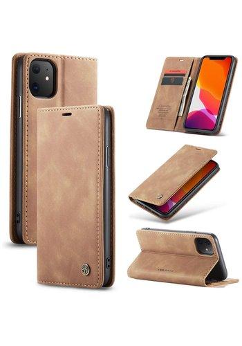 "CaseMe Retro Wallet Slim for iPhone 12 Pro Max (6.7 "") L. Brown"