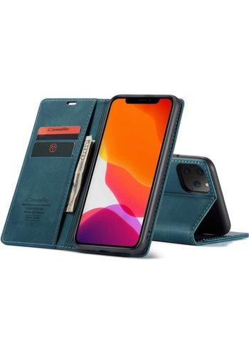 """CaseMe Smukły portfel retro do iPhone'a 12 Pro Max (6,7"""")  niebieski"""