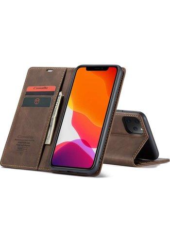 """CaseMe Smukły portfel retro do iPhone'a 12 Pro Max (6,7"""") Brązowy"""