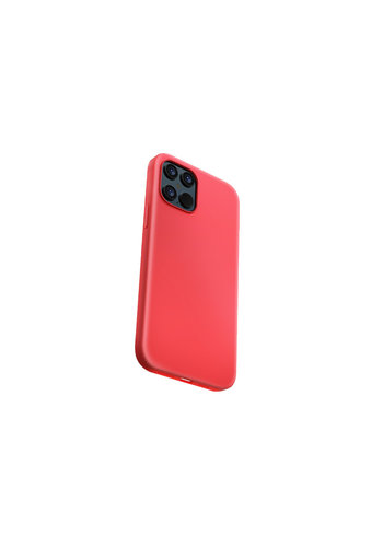 Devia Liquid Silicone iPhone 12 Mini (5.4'') Rood