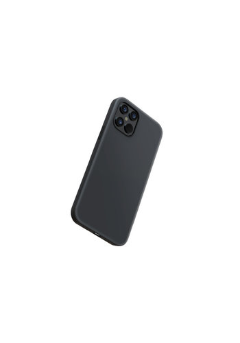 Devia Liquid Silicone iPhone 12 Pro Max (6.7'') Zwart