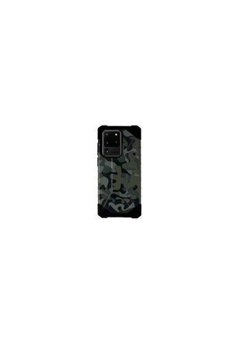 Colorfone Shockproof Army S20 Ultra Groen
