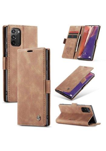 CaseMe Retro Wallet Slim voor Note 20 L.Bruin