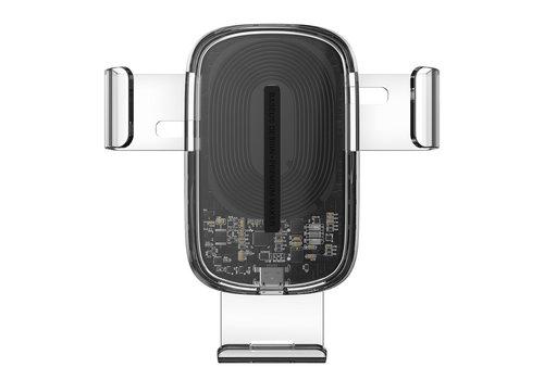 Baseus AutoHouder met 15W draadloos laden Transparant