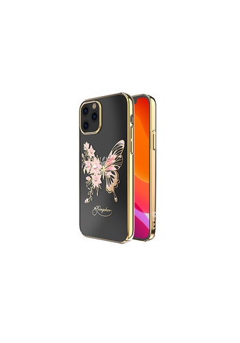 Kingxbar Butterfly BackCover iPhone 12/12 Pro 6.1'' Goud