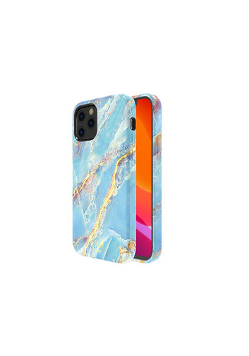 Kingxbar Jade BackCover iPhone 12 Pro Max 6.7'' Blauw