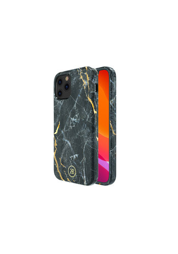 Kingxbar Jade BackCover iPhone 12/12 Pro 6.1'' Zwart