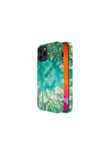 Kingxbar Crystal BackCover iPhone 12/12 Pro 6,1 '' zielony