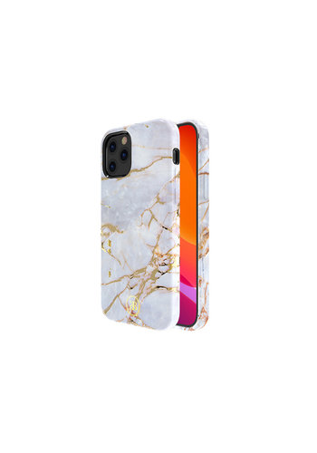 Kingxbar Jade BackCover iPhone 12/12 Pro 6.1'' Wit