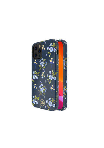 Kingxbar Flower BackCover iPhone 12/12 Pro 6.1'' Blauw