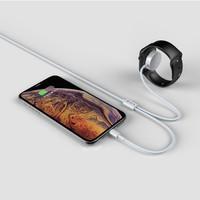 2 in 1 Apple Lightning + Apple Watch Oplaadkabel