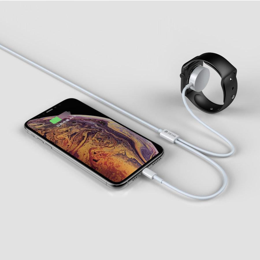 2 in 1 Apple Lightning + Apple Watch Ladekabel