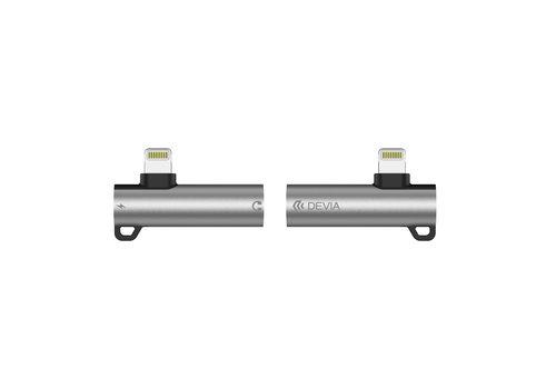 Devia Splitter Lightning / 3,5 mm Kopfhöreranschluss Silber