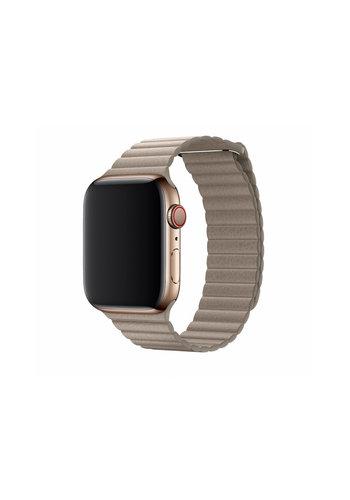 Devia Apple Watch Lederarmband 42/44 mm beige