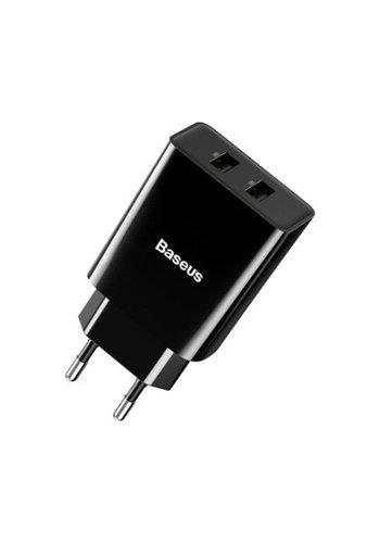 Baseus Doppelter USB-Ladekopf 10,5 W Schwarz