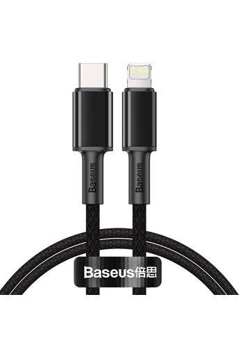 Baseus Kabel do szybkiego ładowania danych typu C na Lightning 1 m Czarny
