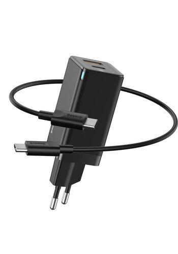 Baseus GaN Quick Charger Charging head Type-C + USB-A Black