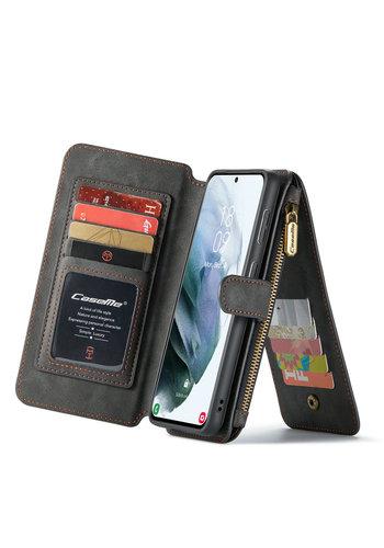 CaseMe 2 in 1 Zipper Wallet for S21 Plus Black
