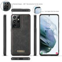 2 in 1 Zipper Wallet voor Samsung S21 Plus Zwart