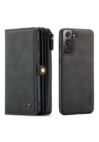CaseMe Multi Wallet voor S21 Zwart