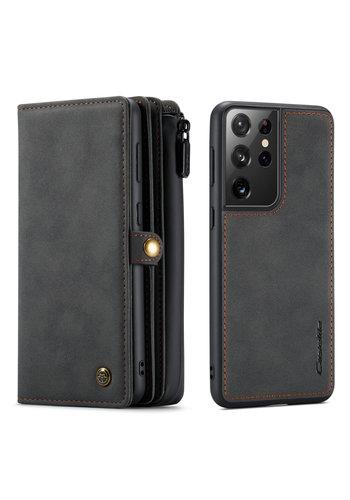CaseMe Multi Wallet voor S21 Ultra Zwart
