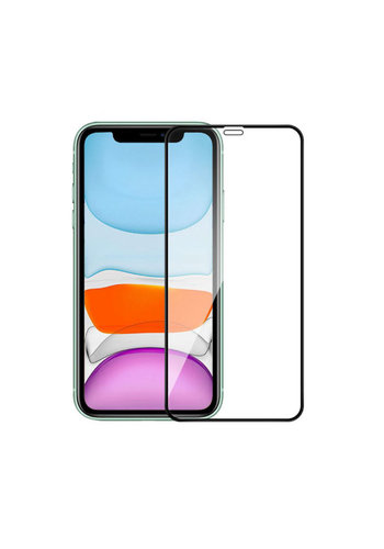 Colorfone Glass 2.5D iPhone 12/12 Pro (6.1) Transparant Zwart