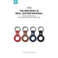 Apple AirTag Leder Schlüsselanhänger Ring Blau