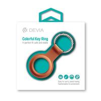 Apple AirTag Silikon Schlüsselanhänger Ring Orange