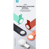 Apple AirTag Silicone Sleutelhanger Ring Rood