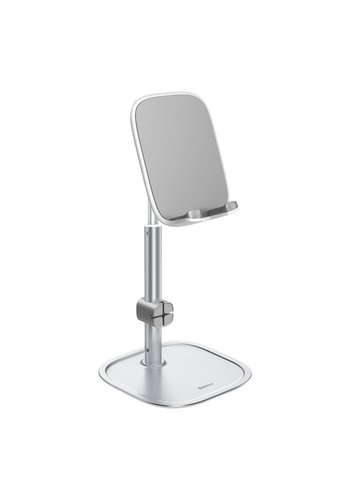 Baseus Soporte de escritorio para teléfono plateado