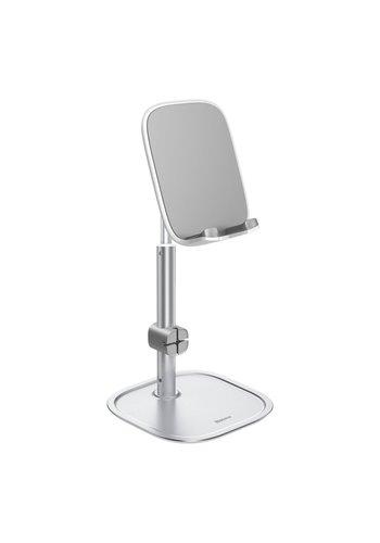 Baseus Uchwyt biurkowy na telefon srebrny