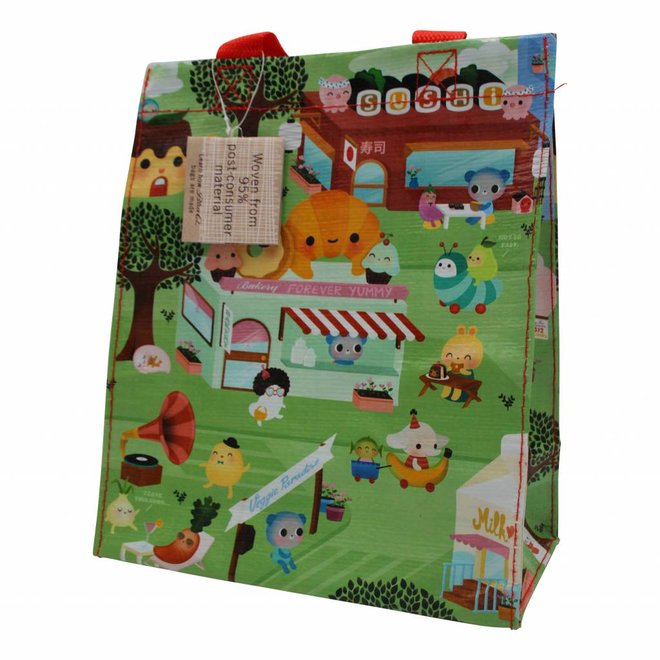 Colorful kawaii shopping bag