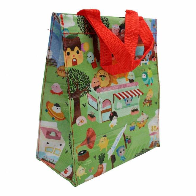 Colorful kawaii shopping bag - Happy Food Town