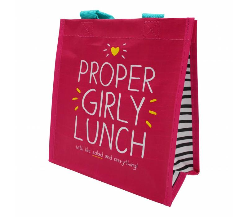 Pink totebag - Proper Girly Lunch